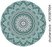 mandala mehndi style. ethnic...   Shutterstock . vector #435387004
