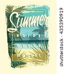 Tropical Beach Summer Print...