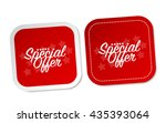 special offer stickers | Shutterstock .eps vector #435393064