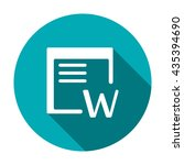 word icon | Shutterstock .eps vector #435394690