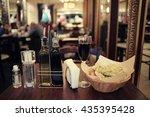 italian restaurant serving... | Shutterstock . vector #435395428