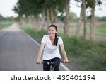 young beautiful asian woman and ... | Shutterstock . vector #435401194