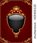 black shield with a crown on... | Shutterstock . vector #435403120