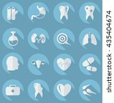 set of organs in the style flat | Shutterstock .eps vector #435404674