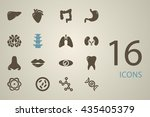 set of organs in the style flat | Shutterstock .eps vector #435405379
