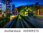subway motion blur of a city... | Shutterstock . vector #435409273