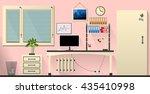 flat interior office room in... | Shutterstock . vector #435410998