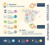 business infographic with gears ... | Shutterstock .eps vector #435411106