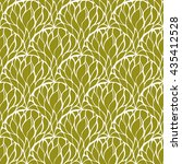 olive and white seamless... | Shutterstock .eps vector #435412528