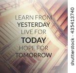 inspirational quote  ... | Shutterstock . vector #435413740