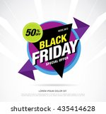 black friday sale banner. web... | Shutterstock .eps vector #435414628