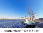 tall ship at the waterfront of... | Shutterstock . vector #435415249