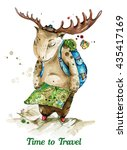 Traveling Elk With Map. Moose....