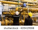 technician is maintaining valve ...   Shutterstock . vector #435419008