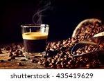 real espresso and coffee grain | Shutterstock . vector #435419629
