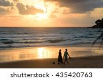 sunset on the beach | Shutterstock . vector #435420763