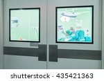 operating room doors | Shutterstock . vector #435421363