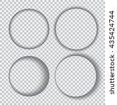 vector transparent set of round ... | Shutterstock .eps vector #435424744