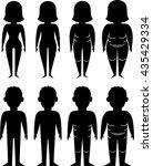 vector illustration black... | Shutterstock .eps vector #435429334