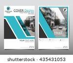blue business technology annual ...   Shutterstock .eps vector #435431053