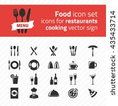 restaurant icon vector pack.... | Shutterstock .eps vector #435433714