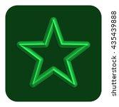 3d line neon star web icon...