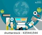 vector workplace business... | Shutterstock .eps vector #435441544