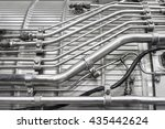 engine of fighter jet  internal ... | Shutterstock . vector #435442624
