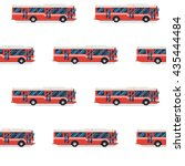 seamless pattern of red buses. | Shutterstock .eps vector #435444484