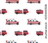 seamless pattern of the fire... | Shutterstock .eps vector #435444508