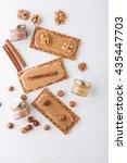 diet breakfast. crisp with honey | Shutterstock . vector #435447703