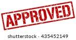 approved stamp.stamp.sign... | Shutterstock .eps vector #435452149