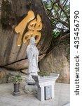 buddha statue  vitarka mudra | Shutterstock . vector #435456790