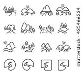 river icon set.vector . | Shutterstock .eps vector #435466234