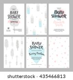 baby shower girl and boy...   Shutterstock .eps vector #435466813