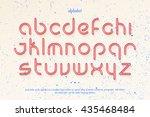 set of stylish  thin line... | Shutterstock .eps vector #435468484