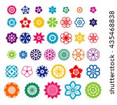 set of flowers design elements... | Shutterstock .eps vector #435468838