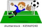 soccer football goalie keeper... | Shutterstock . vector #435469240