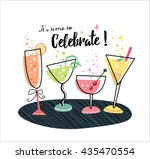 it's time to celebrate  | Shutterstock .eps vector #435470554