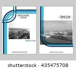 vector brochure cover templates ... | Shutterstock .eps vector #435475708