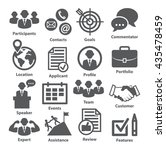 business management icons. pack ... | Shutterstock .eps vector #435478459