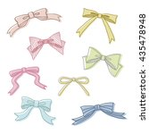 set of hand drawn bows   vector ... | Shutterstock .eps vector #435478948