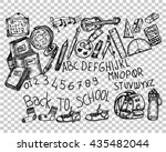back to school  sketch | Shutterstock .eps vector #435482044