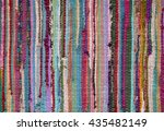 colorful woven rag rug for use... | Shutterstock . vector #435482149