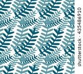 seamless leaf pattern. vector... | Shutterstock .eps vector #435486910