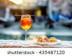 spritz aperol drink with... | Shutterstock . vector #435487120