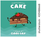 vintage cake poster design with ... | Shutterstock .eps vector #435488668