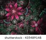 Green And Red Fractal Flowers ...