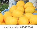 A Pile Of Golden Melon Fruit