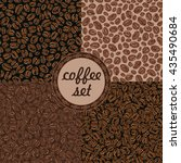 coffee grains  seamless pattern ... | Shutterstock .eps vector #435490684